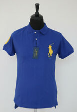 POLO RALPH LAUREN Blue Polo T Shirt Men Short Sleeve Custom Fit BIG Pony NEW