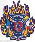 "Houston  Station - 12, Texas  (4"" x 4.5"" size) fire patch"