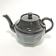 Antique Tea Pot Made In England Brown Chocolate Early Marked