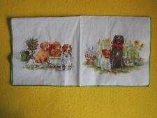 4  Servietten Playing dogs Hunde Ball Beagle Serviettentechnik Tiere 1//4 Schmett