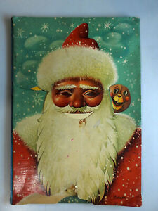 Santa Claus Father Christmas KUBASTA Illustrated Pop Up 3D Moving Book 1960s