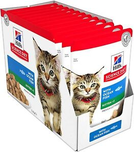 Hill's Science Diet Kitten Ocean Fish Wet Cat Food Pouches, 85g, 12 Pack