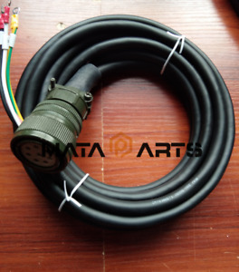 ONE Aviation plug 8 hole MR-J2S-100A/HC-SFS102 motor power cord 5M cable New