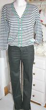Jette  Strickjacke Langarm Stripes  Knit Cardi Silver Grey melliert size 36 Neu