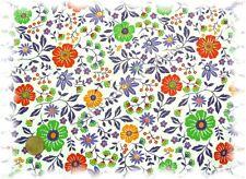 Isalie Hilco Feincord Blumen wollweiß, lila Cord Blumenstoff nähen Meterware
