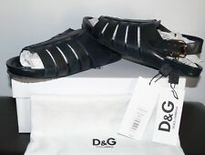 NEW $635.00 DOLCE & GABBANA ITALY NAVY BLUE SPORT SANDALS SIZE US 11/ 10/ 44