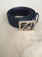 Brand New Hand Made Brioni Crocodile Leather Belt With Brioni 'B' Buckle 105cm
