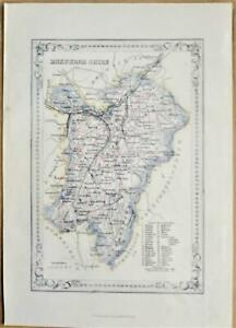 1868; Roxburgh Shire; Scottish Victorian County Map; Wilson/Fullarton