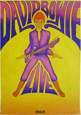 Reproduction David Bowie Concert Poster, Live