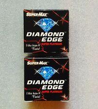 200 Diamond EDGE Blades  Super Max Double Edge Razor Blades  saloon supply !!!!!