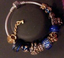 Authentic Pandora Bracelet PREROGATIVE PUGSTER Charms & BEADs lotPB12