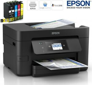 Epson WorkForce Pro WF-3725DWF A4 Colour Multifunction Inkjet Printer, 34XL Inks