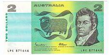 1985 Australia Johnston/Fraser $2 Paper Banknote