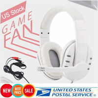 3.5mm Gaming Headphones Wired Headset With Microphone For PC Computer Laptop US
