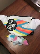 The Color Run Race Running Finisher Fanny Pack Plus Unicorn Plush California