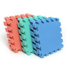 10pcs Interlocking Puzzle Floor Foam Gym Mats Thick Squares Tile Kid Play Pads