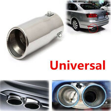 DIY 58mm ID Car Chrome Bevel Exhaust Pipe Tip Muffler Steel Stainless Tail Tube