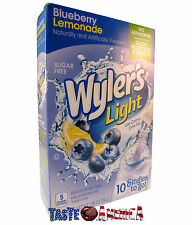 Wylers Light Blueberry Lemonade Sugar Free Singles To Go Drink Mix 10 Stix 39.1g