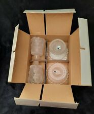 Partylite Quilted Crystal Pair Votive Candle Holders 4 Piece Set Vintage Nib
