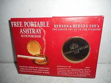 Vintage Portable Benson & Hedges 100's Ashtray - New in Box
