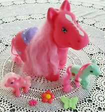 3 TOY PONIES HORSES LONG HAIR HAIR BARRETTES CLIPS MY LITTLE PONY COLLECTIBLE