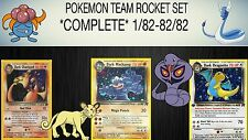 Pokemon Team Rocket Set Complete