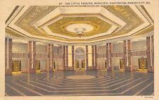 Kansas City MO~Municipal Auditorium~Little Theatre Octogon Interior~1937 Linen