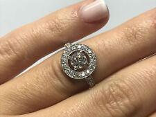 Bague BOUCHERON AVA or blanc 18 carats 750/000 diamant 0.50 carat 3.50 grammes
