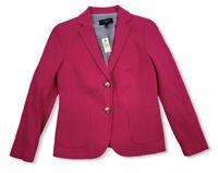 NWT Talbots Petites Dark Pink Blazer Jacket Outerwear Size 4P Cotton $149