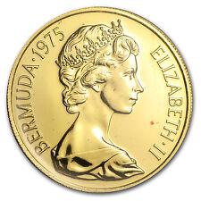 1975 Bermuda $100 Gold Coin - Queen Elizabeth's Royal Visit - Proof/BU -SKU#8903