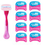 Gillette Venus Spa Breeze Razor + 8 Razor Blade Cartridges