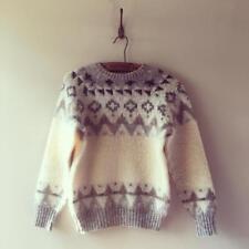 Vintage Icelandic Scandinavian Wool Jumper Sweater XS UK 6 8 10