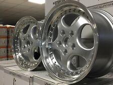 4 Keskin KT2 silber poliert 8,5/9,5x18 Porsche 993 911 944 928 968 996C2 986