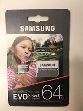 Samsung - 64GB Evo Select w/ SD Adapter - New