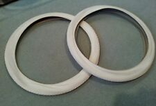 TWO(2) DURO 26X2.125 BEACH CRUISER BICYCLE TIRES SMALL BRICK PATTERN CREAM COLOR