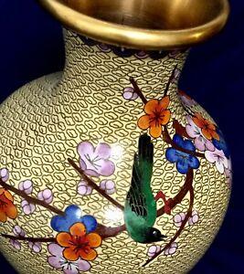 Large Antique Chinese Cloisonne Vase