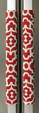 Refrigerator Oven Door Padded Handle Covers Lattice Red Set of Two