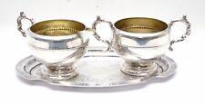 Vintage Antique Viking Plate E.P Copper Silver Plated Creamer & Sugar Dish Set