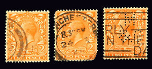Great Britain / 1912 / King George V / Used / 2Pence / SG368/ SC162