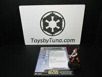 Star Wars Miniatures Aurra Sing Clone Strike CS w/ Card mini RPG Legion