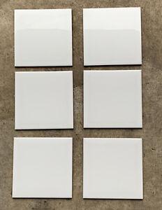 """White 6x6"""" 150x150mm White Gloss Tile Vives Spanish x6 Pcs Bathroom Kitchen Ect"""