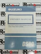 Genuine Suzuki DS80 1993 English Paper Owners Manual 99011-03451-01A