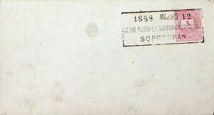 HUNGARY 1888 SOPRON CANCEL POSTAL STATIONERY ENVELOPE