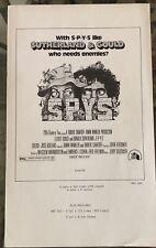 SPYS (1974) Donald Sutherland, Elliott Gould Pressbook