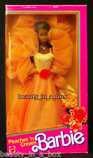 Peaches 'n Cream AA Barbie Doll ~ Box has wear. African American NRFB
