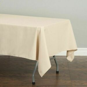 Tablecloth 60 x 102 in Rectangular Polyester Tablecloth Wedding Event Party