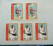 lot of 5 2004-05 Fleer Tradition LEBRON JAMES #140 & #210 2nd Year RC!!! NM/MT