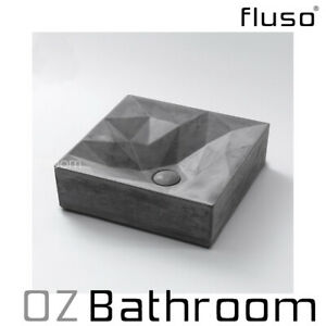 400x400x120mm High-performance Above Counter concrete basin