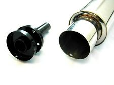 "Megan Racing Universal Exhaust Muffler N1 Turbo Style 4.0"" Tips 3"" w Silencer"