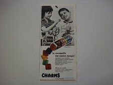 advertising Pubblicità 1961 CARAMELLE ALEMAGNA CHARMS